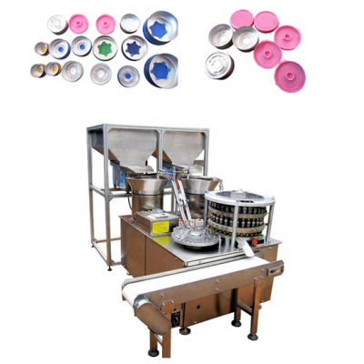 LS-3 type high equipped flip off seal/cap assembly machine with hopper and conveyor